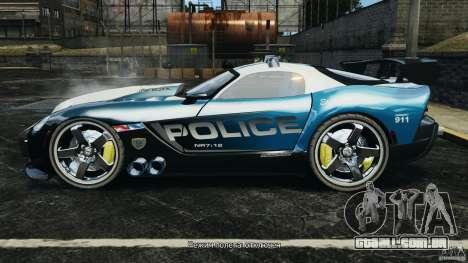 Dodge Viper SRT-10 ACR ELITE POLICE para GTA 4 esquerda vista