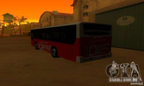 Daewoo Bus BC211MA para GTA San Andreas vista direita