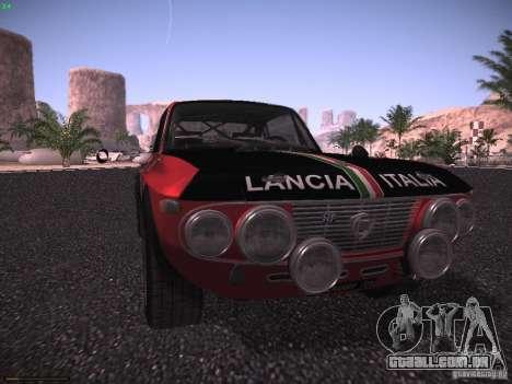 Lancia Fulvia Rally para GTA San Andreas vista direita