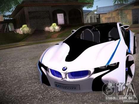 BMW Vision Efficient Dynamics I8 para GTA San Andreas esquerda vista