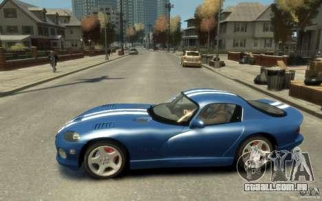 Dodge Viper GTS para GTA 4 esquerda vista