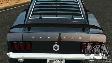 Ford Mustang Boss 429 para GTA 4 vista superior