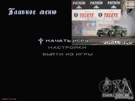 Fórmula Drift-estilo menu para GTA San Andreas segunda tela