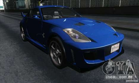Nissan 350Z Varis para GTA San Andreas vista traseira