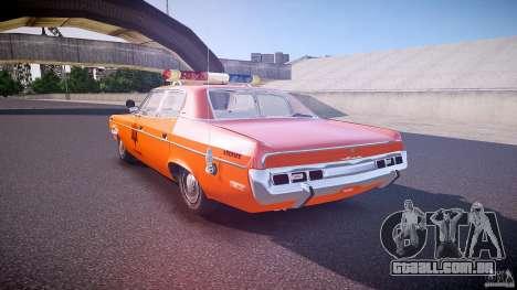 AMC Matador Hazzard County Sheriff [ELS] para GTA 4 traseira esquerda vista