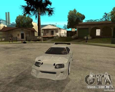 Toyota Supra M4K para GTA San Andreas vista traseira