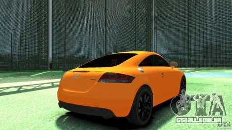 Audi TT Stock 2007 para GTA 4 traseira esquerda vista