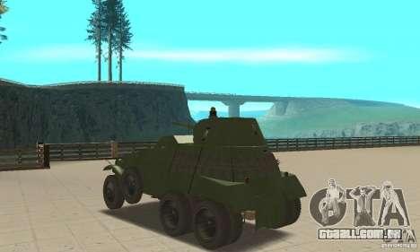 BTR BA-11 para GTA San Andreas traseira esquerda vista