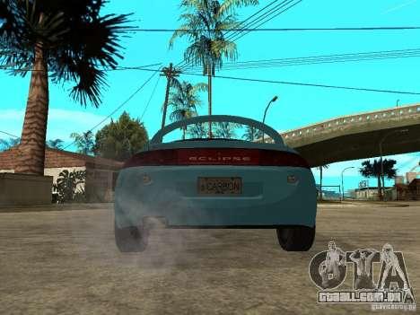 Mitsubishi Eclipse 1998 Need For Speed Carbon para GTA San Andreas traseira esquerda vista