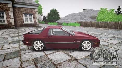 Mazda RX7 FC3S para GTA 4 vista de volta