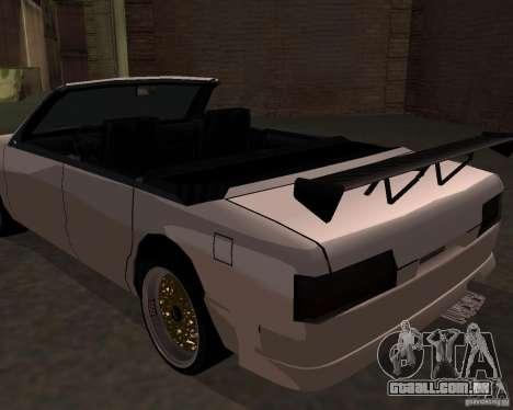 Taxi Cabrio para GTA San Andreas esquerda vista