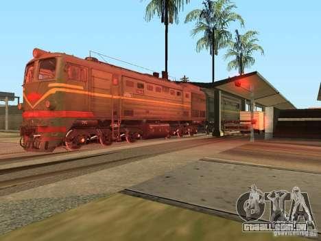 2te10l locomotiva diesel para GTA San Andreas vista direita