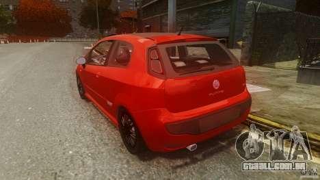 Fiat Punto Evo Sport 2010 para GTA 4 traseira esquerda vista