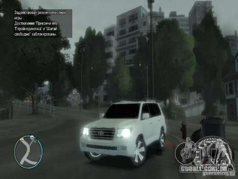 Toyota Land Cruiser 200 FINAL para GTA 4 vista superior