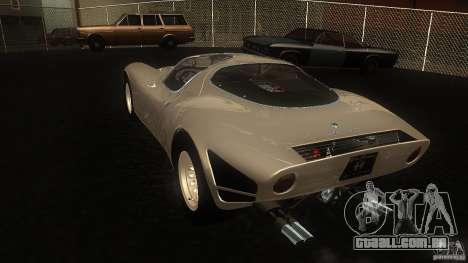 Alfa Romeo Tipo 33 Stradale para GTA San Andreas traseira esquerda vista
