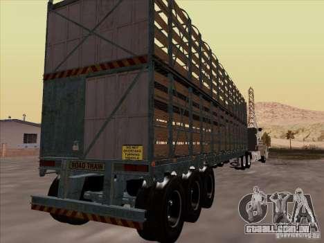 Trailer de Mack RoadTrain para GTA San Andreas vista direita
