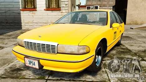Chevrolet Caprice 1991 LCC Taxi para GTA 4
