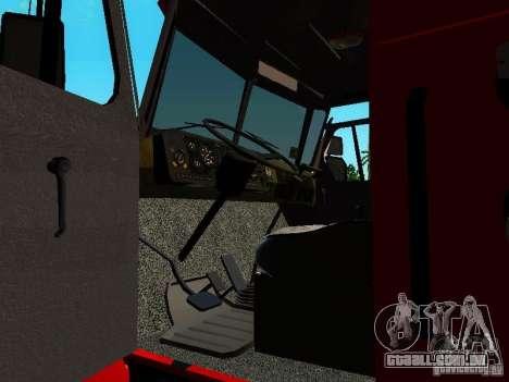 Fogo de Ural 5557-40 para GTA San Andreas vista interior