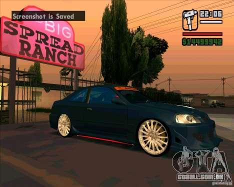 Honda Civic Tuned (corrigido) para GTA San Andreas