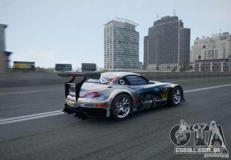 BMW Z4 GT3 2010 V.2.0 para GTA 4 vista de volta
