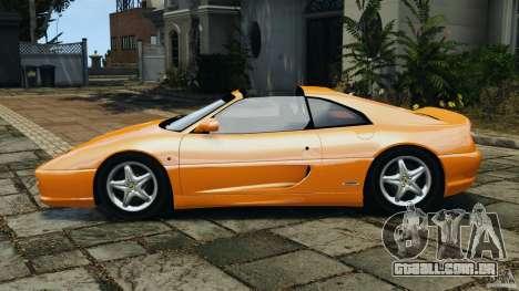 Ferrari F355 F1 Berlinetta para GTA 4 esquerda vista