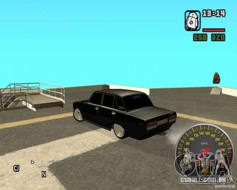 VAZ 2107 DuB para GTA San Andreas traseira esquerda vista