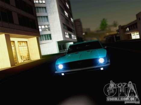 New Car Lights Effect para GTA San Andreas por diante tela