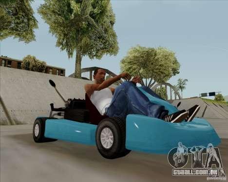 Kart para GTA San Andreas traseira esquerda vista