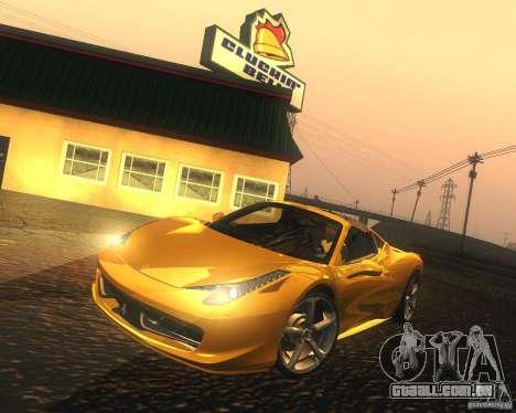 Ferrari 458 Italia Convertible para GTA San Andreas esquerda vista
