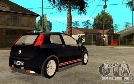 Fiat Grande Punto 3.0 Abarth para GTA San Andreas vista direita