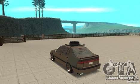 Saab 9000 GT Drifting 1998 para GTA San Andreas traseira esquerda vista