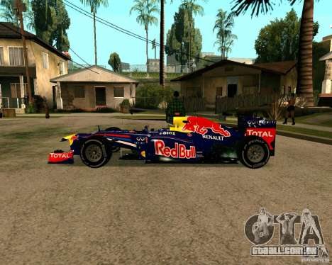 Red Bull RB8 F1 2012 para GTA San Andreas esquerda vista