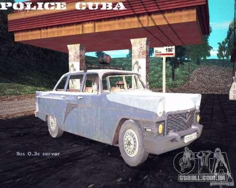 Polícia gás 13 Cuba para GTA San Andreas vista direita