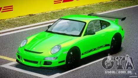 Porsche 997 GT3 RS para GTA 4 esquerda vista