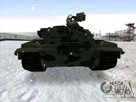 T-90 de Battlefield 3 para GTA San Andreas vista direita