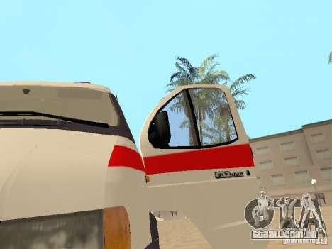 Ambulância de gazela 2705 para GTA San Andreas vista traseira
