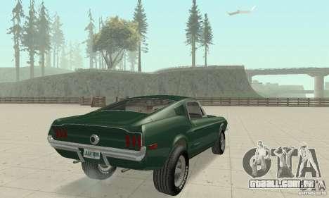 Ford Mustang Bullitt 1968 v.2 para GTA San Andreas esquerda vista
