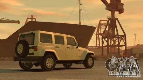 Jeep Wrangler Unlimited Rubicon 2013 para GTA 4 traseira esquerda vista