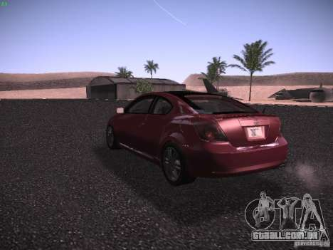 Scion tC para GTA San Andreas vista direita