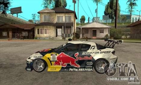 Mazda RX8 NFS Team Mad Mike para GTA San Andreas esquerda vista