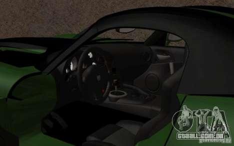 Dodge Viper um pequeno ajuste para GTA San Andreas esquerda vista