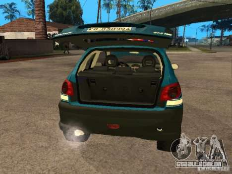Peugeot 206 Police para GTA San Andreas vista traseira