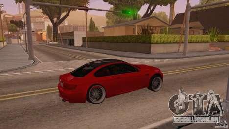 BMW M3 E92 Slammed para GTA San Andreas vista direita