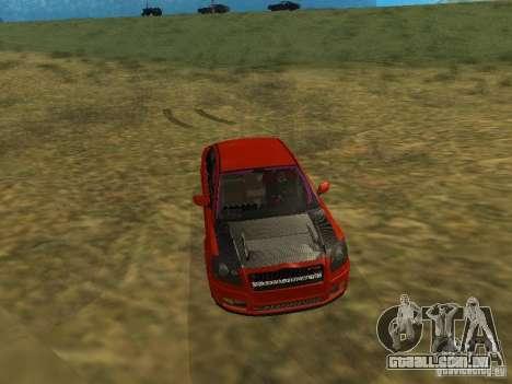Toyota Avensis TRD Tuning para vista lateral GTA San Andreas