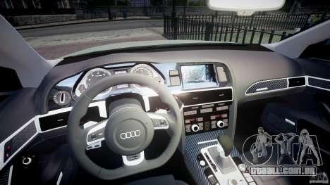 Audi RS6 2010 para GTA 4 vista de volta