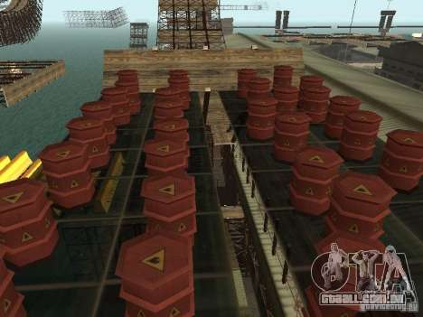 Huge MonsterTruck Track para GTA San Andreas twelth tela