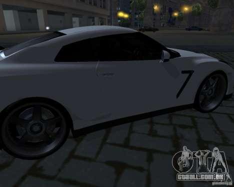 Nissan GTR-35 Spec-V para GTA San Andreas vista superior