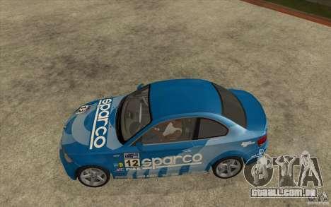 BMW 135i Coupe para vista lateral GTA San Andreas