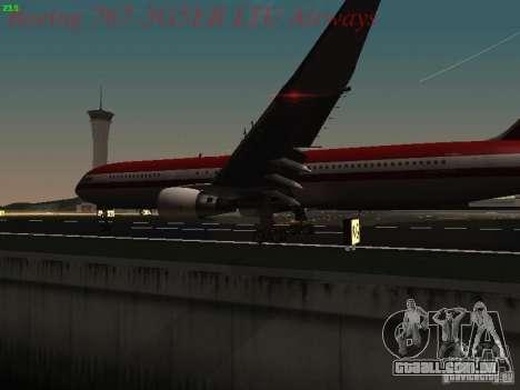 Boeing 767-3G5ER LTU Airways para vista lateral GTA San Andreas