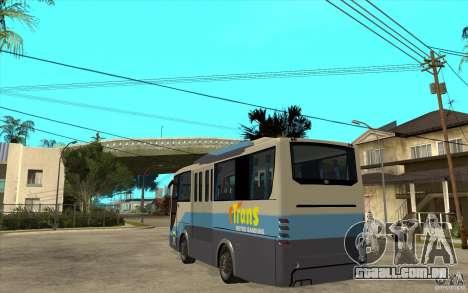 Hino Evo C para GTA San Andreas traseira esquerda vista